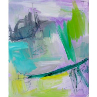 """""""Bermuda Byway"""" by Trixie Pitts Abstract Expressionist Oil Painting For Sale"""