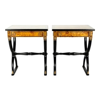 Early 19th Century Ebony Side or End Tables - a Pair For Sale