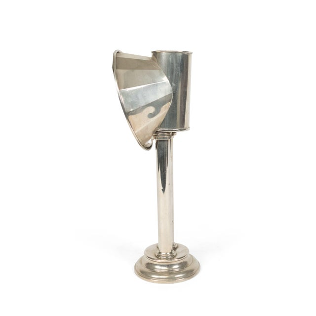 English Victorian Silver Plated Student Lamps, Pair For Sale In New York - Image 6 of 9