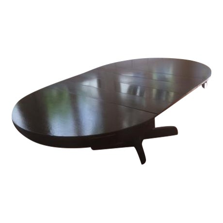 Large Pedestal Dining Table & Four Leaves - Image 1 of 8