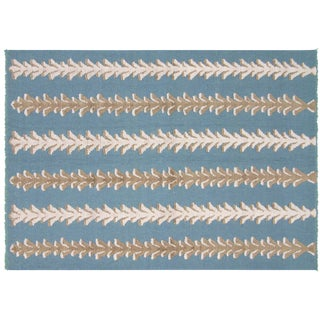 Nalbandian - Contemporary Turkish Flatweave Rug - 5′6″ × 7′9″ For Sale