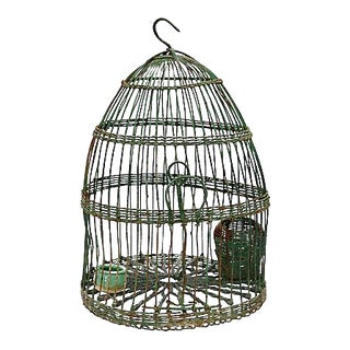 Antique French Hanging Birdcage For Sale