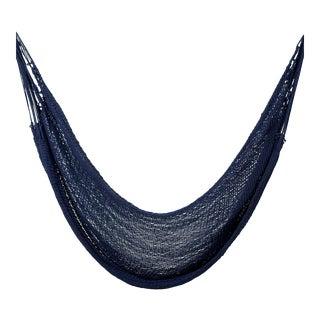 Handmade Mountaineer Navy Blue Cotton Hammock For Sale