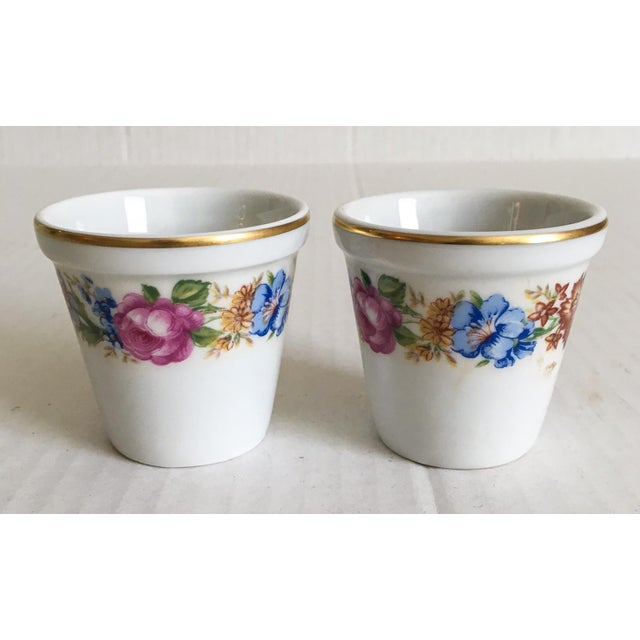 Petite French Limoges Pots - A Pair - Image 2 of 4
