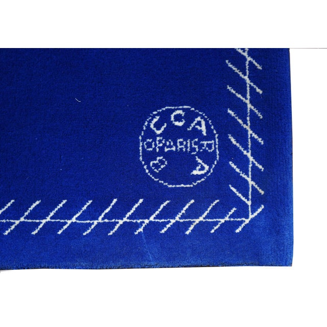 Boccara Limited Edition Artistic Rug Homage to Yves Klein For Sale - Image 6 of 7
