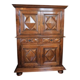 18th Century French Louis XV Walnut Buffet For Sale