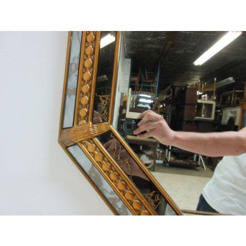 Vintage Italian Venetian Decorator Hanging Wall Console Mirror - Image 4 of 5