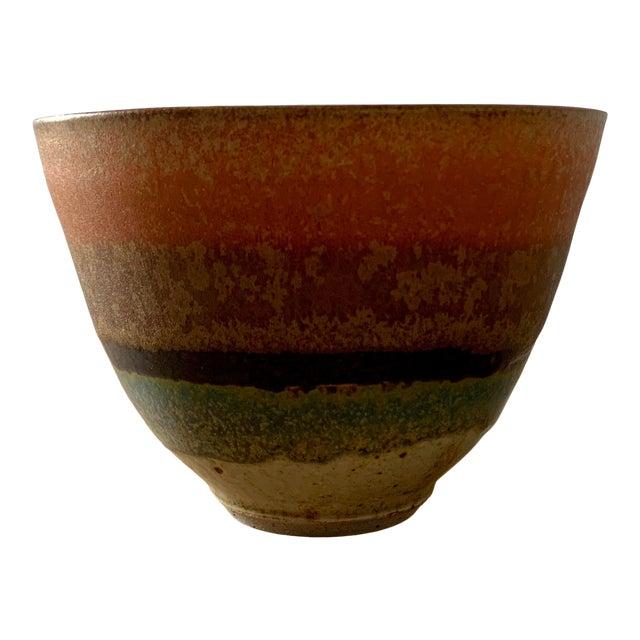 Yves Lambeau Stoneware Bowl For Sale