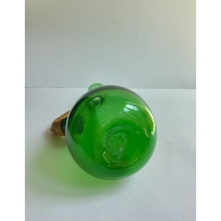 1960s Mid Century Danish Blown Glass Decanter With Wrapped Cane Details Preview