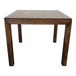 Henredon Artefacts Campaign Style Square Accent Table For Sale