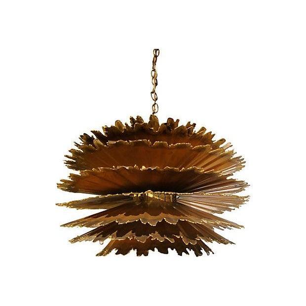 Tom Greene Chandelier Feldman Brutalist Hanging Light For Sale - Image 9 of 9