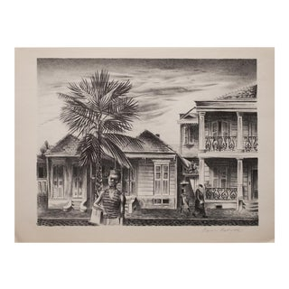 1939 New Orleans Street by Aaron Bohrod Photogravure For Sale