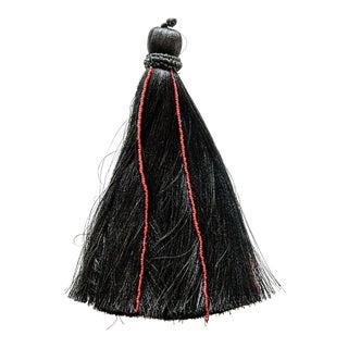Red Beaded Black Tassel For Sale