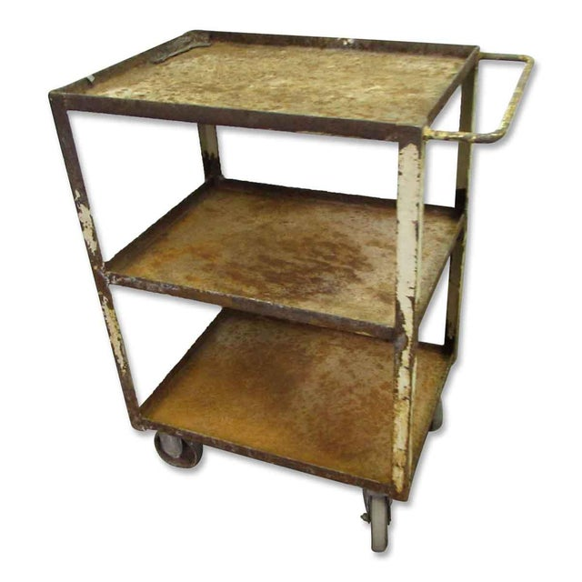 Industrial Rusted Metal Cart For Sale - Image 6 of 6