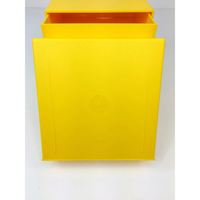 Yellow Mid Century Palaset Treston Oy Finland 3 Drawer Storage For Sale - Image 8 of 10