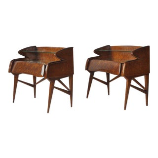 Pair of 1950s Italian Nightstands For Sale