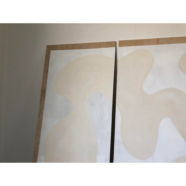 Abstract Winter Whites Triptych For Sale - Image 3 of 10