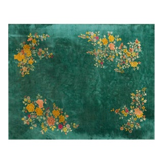 """1920s Chinese Art Deco Rug - 9'x11'6"""" For Sale"""