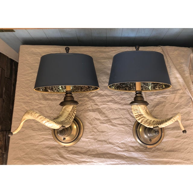 Vintage Chapman Horn Sconces - a Pair For Sale In Chicago - Image 6 of 6