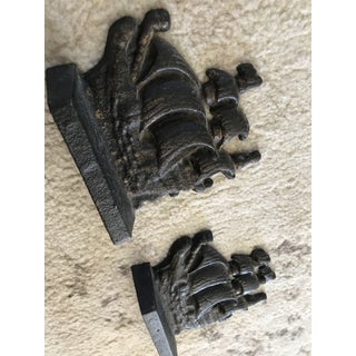 Antique Cast Iron Ship Bookends - a Pair Preview