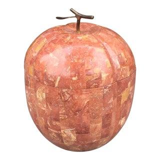 Vintage Hollywood Regency Style Marble Apple Storage