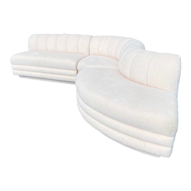Contemporary Boucle Stacked Sectional Sofa - Set of 3 For Sale