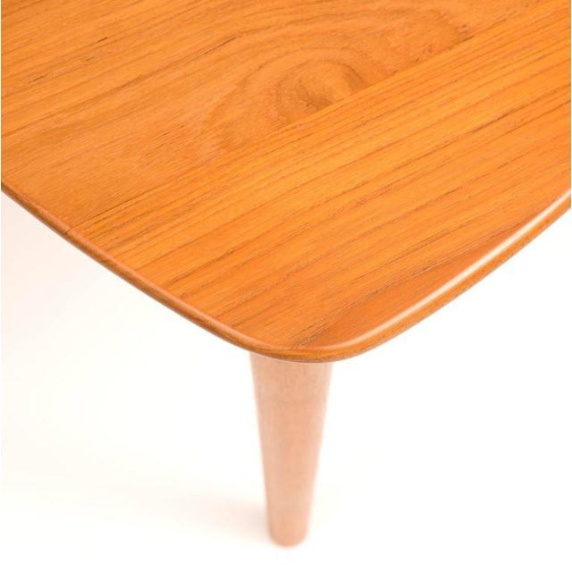 DUX Mid-Century Teak Guitar Pick Tables - A Pair For Sale - Image 4 of 9