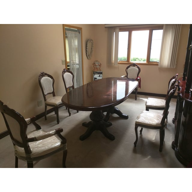 Classic Adjustable Dining Table & 6 Chairs - Image 3 of 8