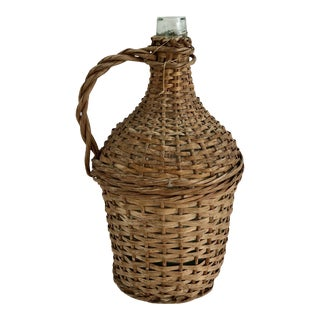 French Wrapped Demijohn For Sale