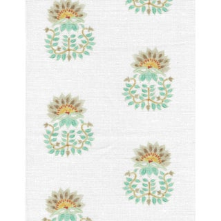 Ferran Gazania Fabric, 2 Yards, French Grey in Linen/Cotton For Sale