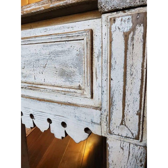 Antique Distressed Painted Plank Top Console Table For Sale In Dallas - Image 6 of 11