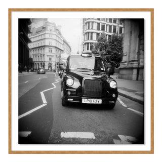 Taxi Holga Film by Ashley Garmon, Contemporary Photograph in Gold, Medium For Sale