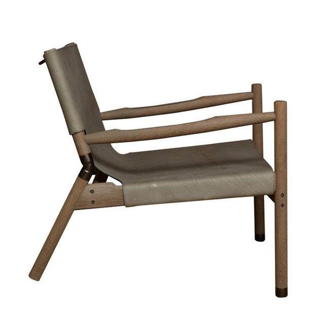 Pair of Erickson Aesthetics Oak Lounge - Image 4 of 6