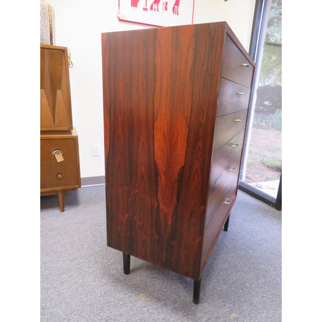 1970s Mid-Century Modern 6-Drawer Rosewood Highboy For Sale - Image 12 of 13