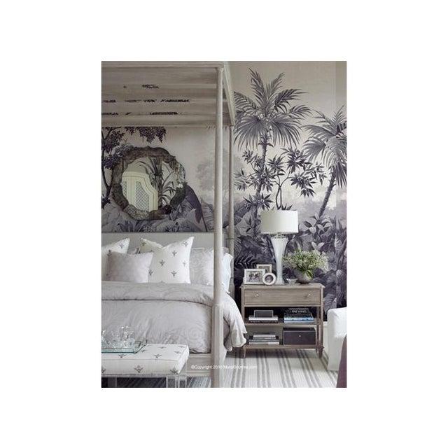 "Chinoiserie Casa Cosima Shadow Jacinda Wallpaper Mural - 5 Panels 180"" W X 120"" H For Sale - Image 3 of 5"