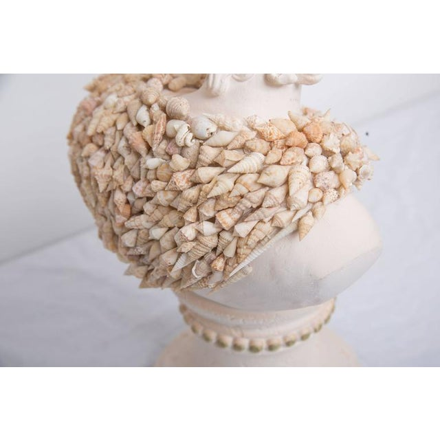 2010s Shell Encrusted Composition Bust For Sale - Image 5 of 8