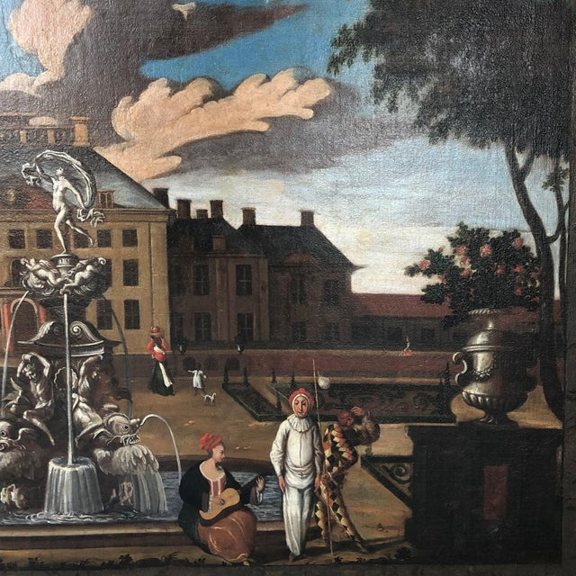 """17th Century Dutch School """"Palace Courtyard"""" Painting For Sale - Image 9 of 11"""