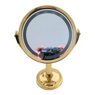 Vintage Lit Make-Up Mirror For Sale