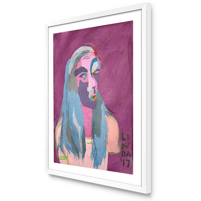 """Contemporary Abstract Portrait Painting """"This Is This, That Is That"""" - Framed For Sale - Image 4 of 6"""