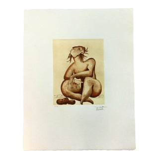 Contemporary Modernist Unframed Summer Tomatoes Alexandra Nechita Signed Etching For Sale