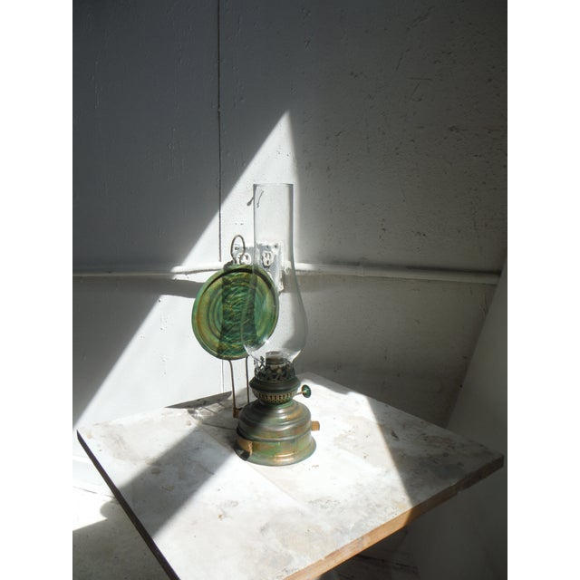 This vintage kerosene lamp was discovered in a flea market in Brittany, France. The brass was the perfect excuse to...