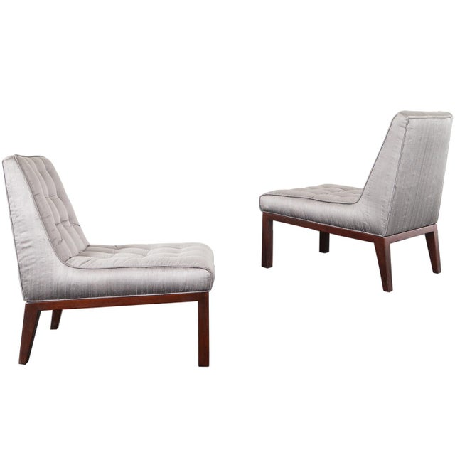Dunbar Slipper Chairs by Edward J. Wormley For Sale - Image 9 of 9