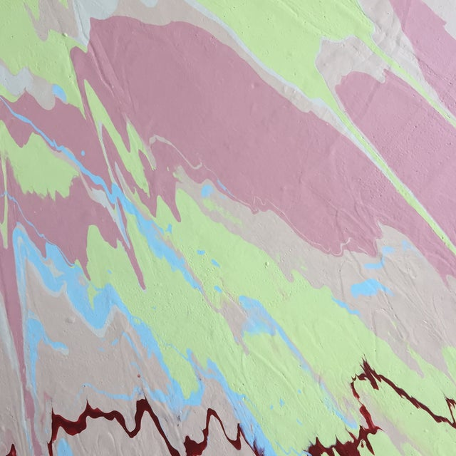 2010s Abstract Pink/Green/Blue Color Field II For Sale - Image 5 of 8