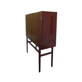 1960s Danish Rungstedlund Mahogany Highboard by Ole Wanscher for Poul Jeppesen For Sale