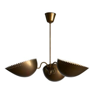 Brass Chandelier by Bertil Brisborg