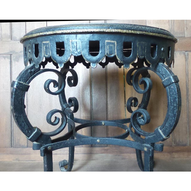 Napoleon III Circular Iron Table For Sale In New York - Image 6 of 7