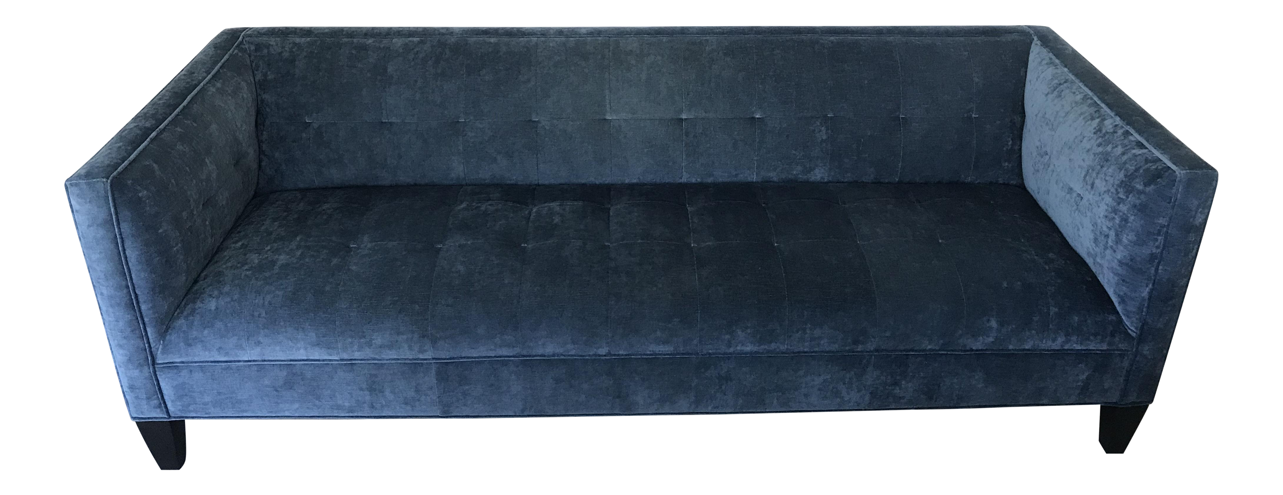 Custom Blue Velvet Mitchell Gold Bob Williams Kennedy Sofa Chairish
