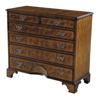 Scarborough House Myrtle Burl Marquetry Chest For Sale