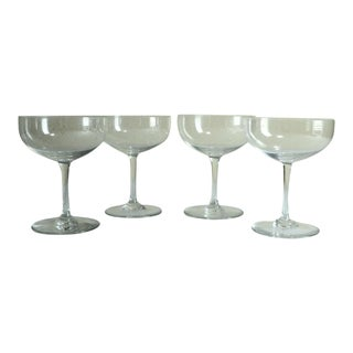 1970s Traditional Baccarat Crystal Cocktail/Champagne Coupes Goblets - Set of 4