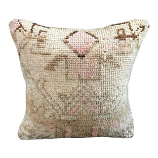 Antique Handwoven Oushak Pillow Cover For Sale